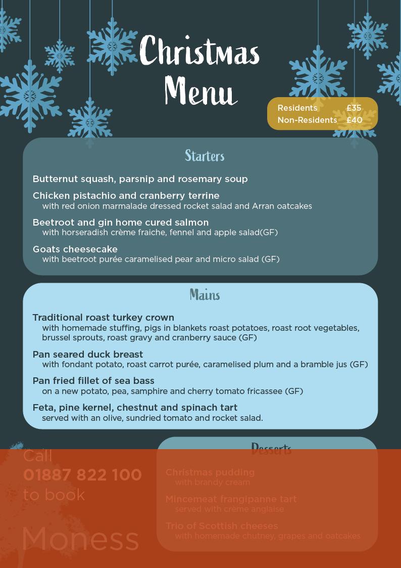christmas day menu image